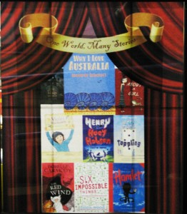 Window sized poster of the Book Week book covers