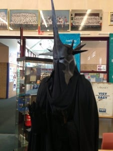 Photo of the finished witch king costume
