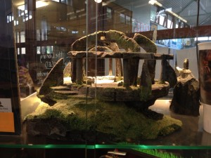 Photo of a hand sculpted model of Weathertop from Lord of the Rings on display