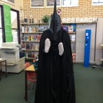 Photo of the nearly completed witch king statue in the display