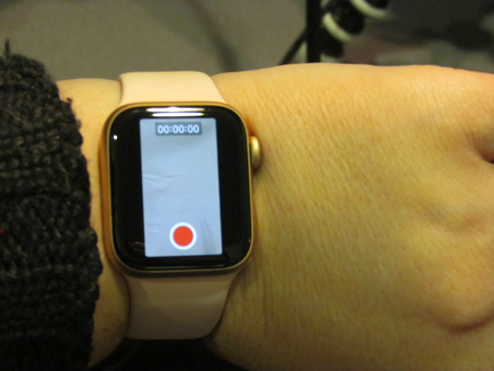 Apple Watch controlling the camera