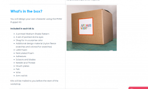 Listing of the supplies in the box